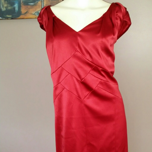 Dress Barn Dresses Dress Barn Collection Red Dress Poshmark