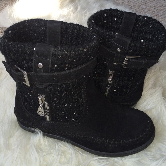 715db3e9bb92 G by Guess Boots - G by Guess black sequin winter ankle boots 8