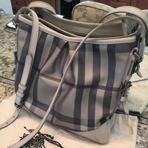 56a9f1337a88 Burberry Handbags - Burberry Smoked Check Crossbody Bag
