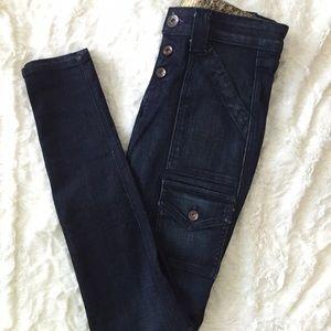 Rich & Skinny Denim - Cargo Style Blue Jeans