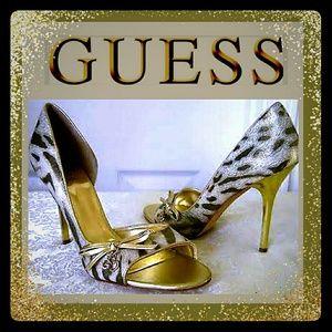 GUESS Open Toe Pump Heels ENTHUSE heels