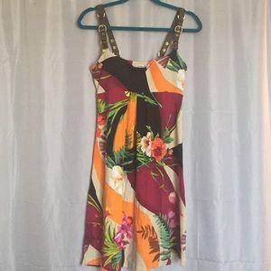 Cache Hawaiian Print Dress