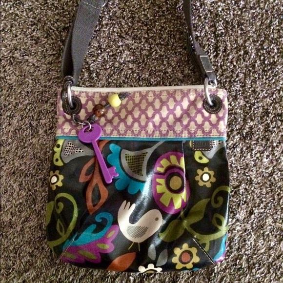 fe1164bfd Fossil Handbags - Fossil Key-Per Coated Canvas, Cross Body Bag