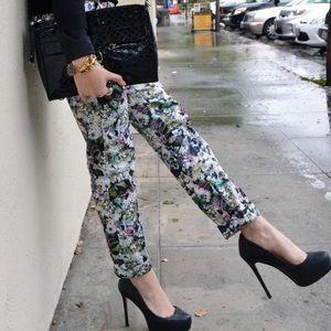 Zara Pants - Floral Printed Pants