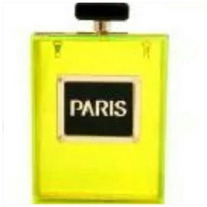Neon Green Perfume Bottle Clutch