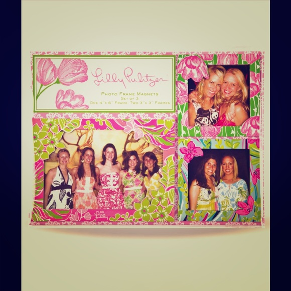 Lilly Pulitzer Accessories | Magnetic Frame Set Set Of 3 | Poshmark