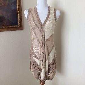 🎉HP🎉 Anthropologie long knit vest or dress