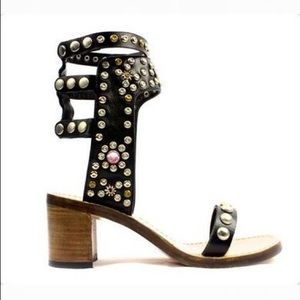 Jessica Buurnan Shoes - Brand New: Exclu RUMI Ankle Strap Studded Sandal