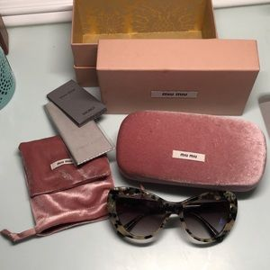 Miu Miu Accessories - Miu Miu Cateye Tortoise Sunglasses!