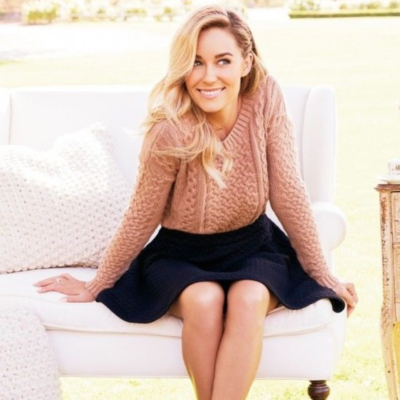67% off LC Lauren Conrad Sweaters - RESERVED | LC | Tan Cable Knit ...
