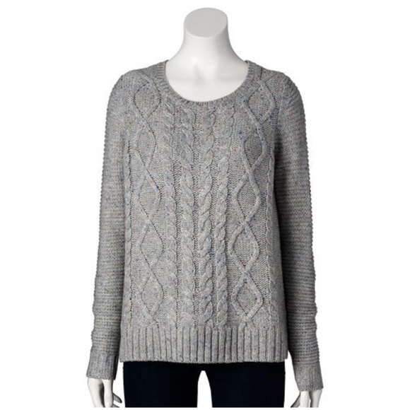 44% off Sonoma Sweaters - 🍩 SOLD - Sonoma | Gray Cable Knit ...