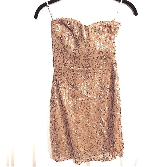 50222005 Forever 21 Dresses | Sweetheart Pinkchampagne Sequin Dress | Poshmark