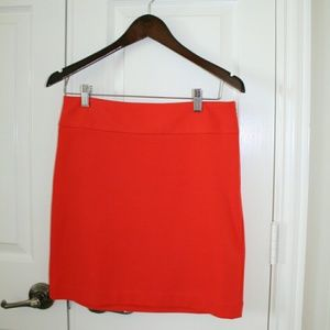 Orange Banana Republic Mini Skirt