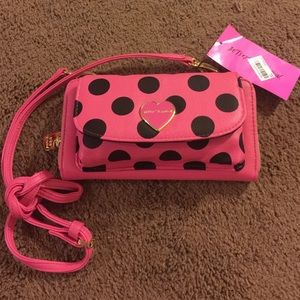 Sale New Betsey Johnson Polka Dot Crossbody