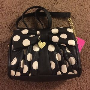 Sale New Betsey Johnson Bow Crossbody
