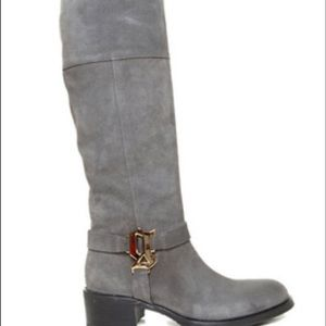 John Galliano Shoes - John Galliano the heidy suede G bit riding boot