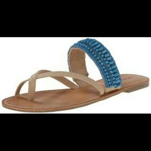 Pink & Pepper Shoes - Blue Beaded Sandals