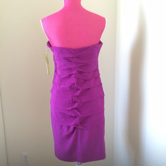 Nicole Miller Dresses - Nicole Miller Berry Twisted Pleat Dress