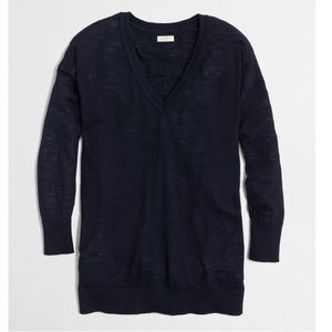 JCrew Cotton Vneck Sweater