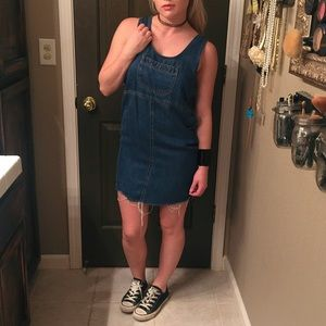Denim Overall Dress