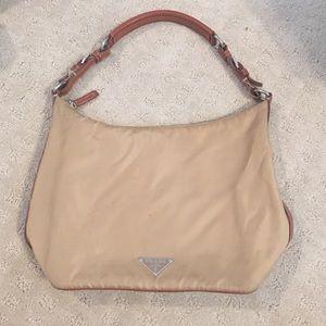 prada pink double stap shoulder bag
