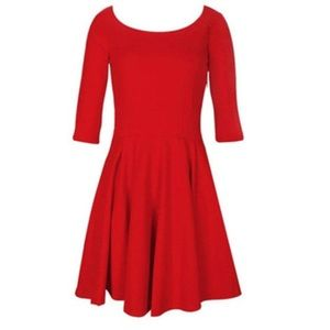 Express Dresses & Skirts - Express Red Skater Dress - Holiday Dress!