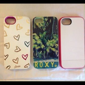Accessories - Set of 3 iPhone 5 cases.