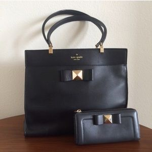 kate spade Handbags - Kate Spade Bow Terrace Fulton Black Tote & Wallet