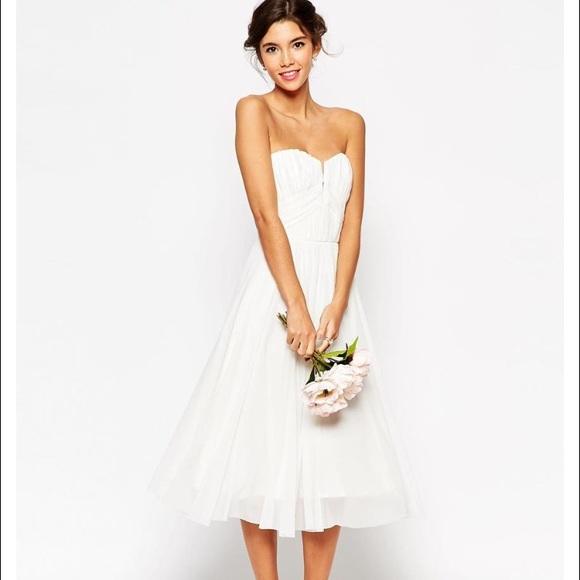 8b0696ef2ced3 ASOS Dresses | Wedding Ruched Bodice Bandeau Midi Dress | Poshmark