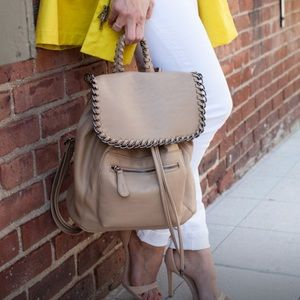 Kensie Handbags - Kensie Tan Faux Leather Backpack