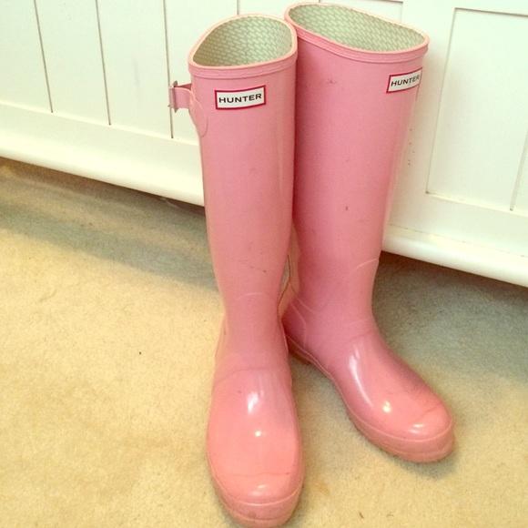 Baby Pink Hunter Tall Rain Boots   Poshmark