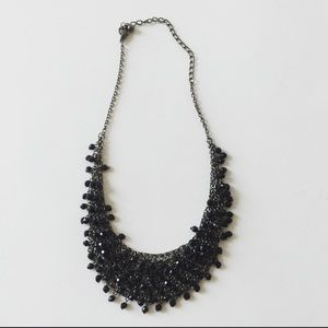 Jewelry - Black beaded bib necklace