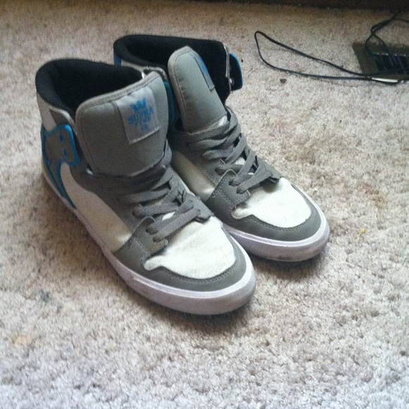 44 off supra shoes size 10 supra grey white and blue
