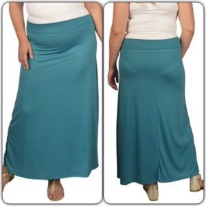 Navy Blue long maxi skirt plus size 3X New 3X from ! liz's closet ...