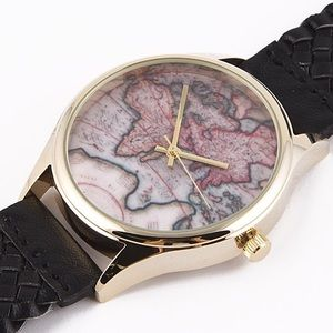 Jewelry - Black Woven Globe Watch
