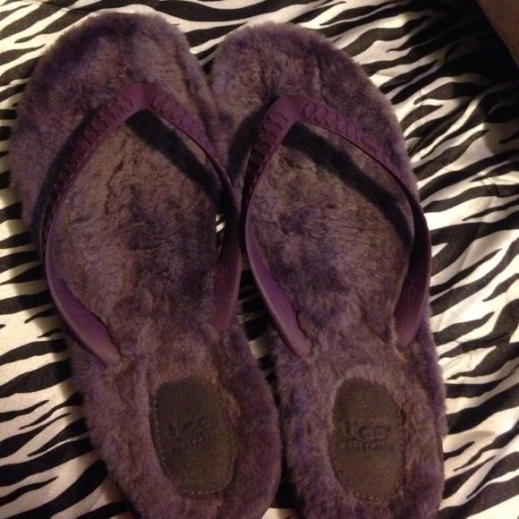Ugg Shoes  Purple Fuzzy Flip Flops  Poshmark-9479