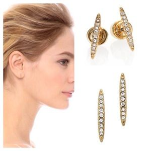 MICHAEL KORS GOLD MATCHSTICK EARRINGS