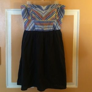 Strapless Tribal Print Dress
