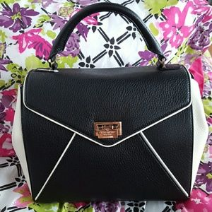 Kate Spade Laurel Black and Porcelain Handbag