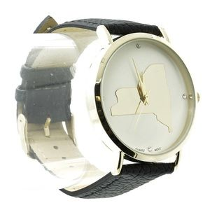 """New York state of mind"" leather band watch"