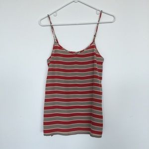 Madewell Tops - Madewell striped silk top size small
