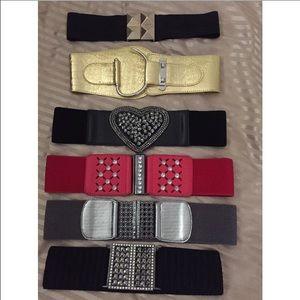 Accessories - belts bundle one size