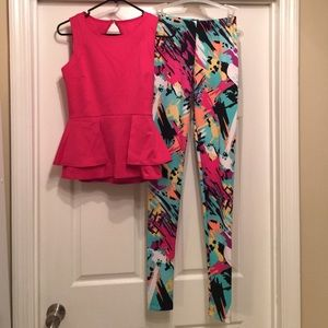 Nicki Minaj Other - Nicki Minaj Peplum & Leggings Bundle!