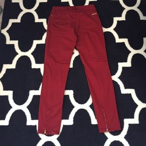Zara pants with zippered ankles