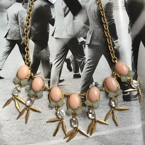 J.Crew Beaded Stone Statement Necklace