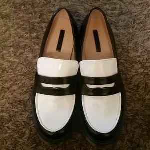 Zara Shoes - Black and White Loafers