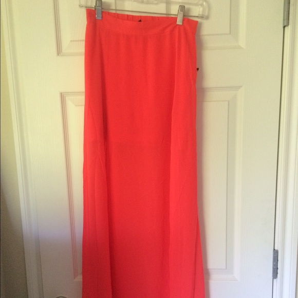 60% off Divided Dresses & Skirts - Long bright pink Maxi skirt ...
