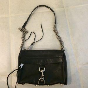 Rebecca minkoff satchel. Black with silver.