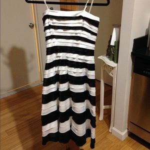 Adrianna Papell black and white cocktail dress