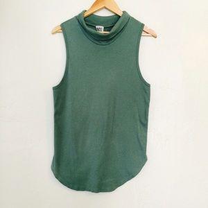 Free People Tops - Free People Green Sleeveless Cowl Neck Top